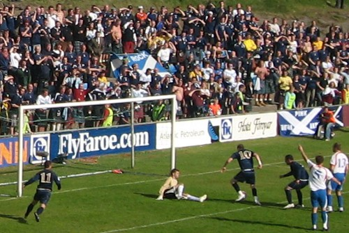 Garry O'Connor makes it 2-0 for Scotland against the Faroe Islands