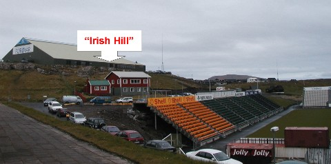Irish Hill - where the Irish supporters without a ticket will be watching