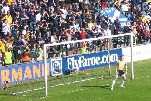 Shaun Malony has just scored on a direct free kick